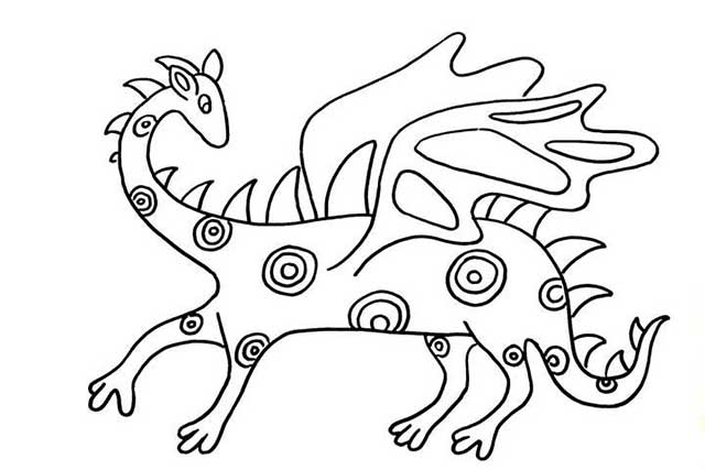 It is a graphic of Mesmerizing Alebrijes Coloring Pages