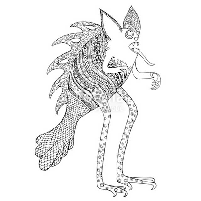 Free printable Alebrijes coloring pages for kids