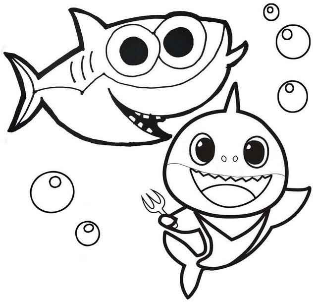 10 Best Free Printable Baby Shark Coloring Pages For Kids