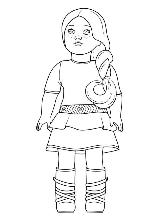 - 10 Best Free Printable American Girl Doll Coloring Pages For Kids