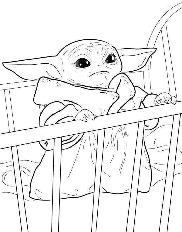 10 Best Free Printable Baby Yoda Coloring Pages For Kids