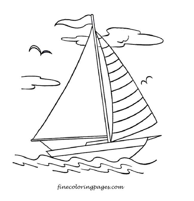 12 Best Free Printable Boat Coloring Pages For Kids