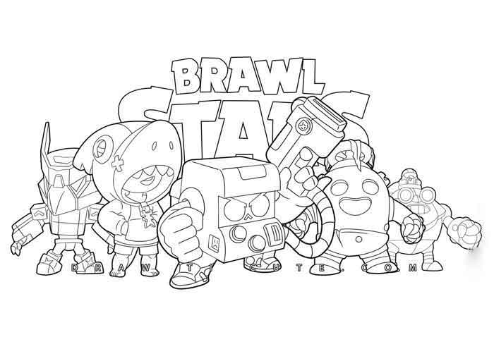 10 Best Free Printable Brawl Stars Coloring Pages For Kids