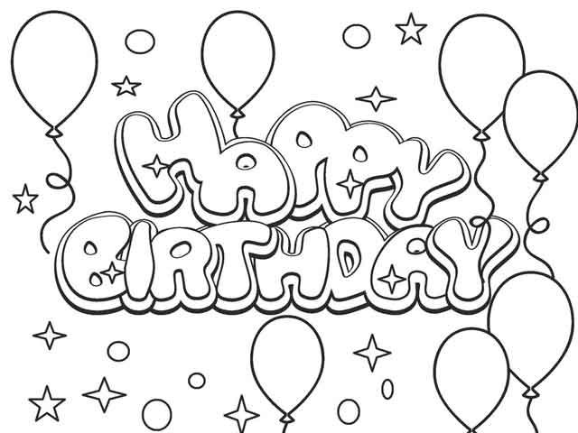 10 Best Free Printable Happy Birthday Coloring Pages For Kids