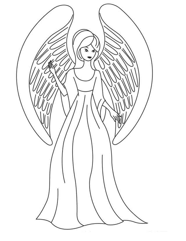 11 Best Free Printable Angel Coloring Pages For Kids