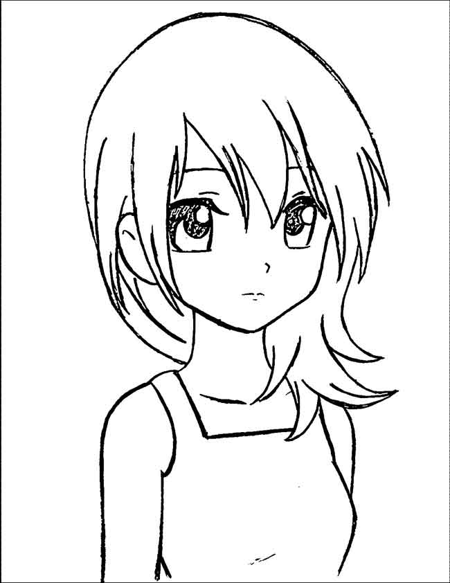 Anime Coloring Pages Cute Girls - Coloring And Drawing