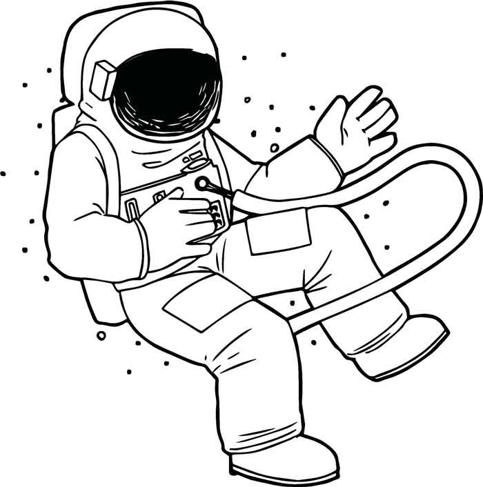 10 Best Free Printable Astronauts Coloring Pages For Kids
