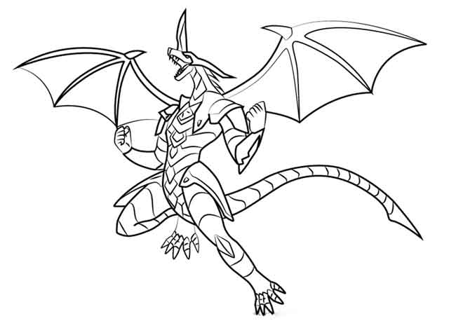 10 Best Free Printable Bakugan Coloring Pages For Kids