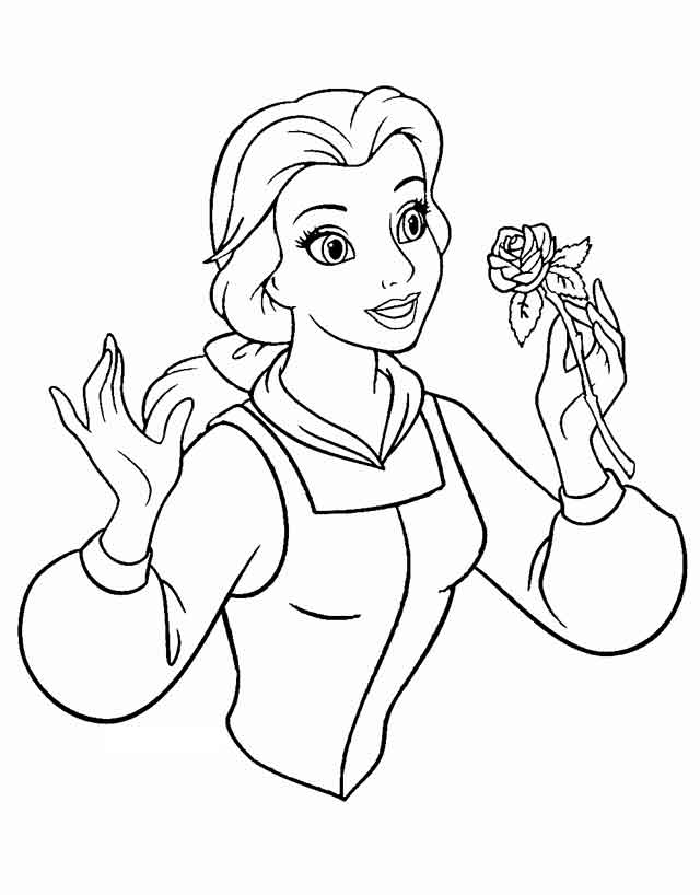 Printable Free Disney Princess Belle Coloring Pages #762 Princess ... | 818x640