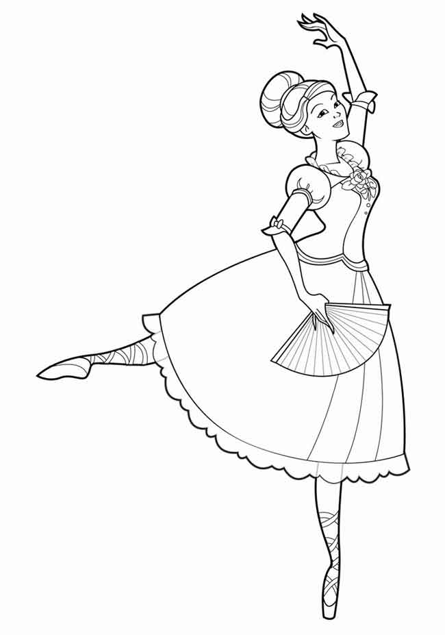 This is an image of Printable Ballerina Coloring Pages pertaining to free ballet activity