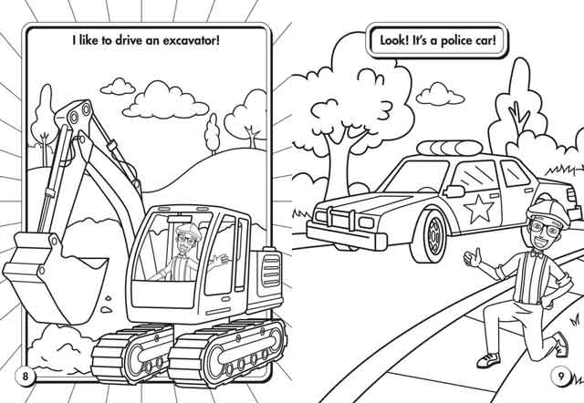 10 Best Free Printable Blippi Coloring Pages For Kids