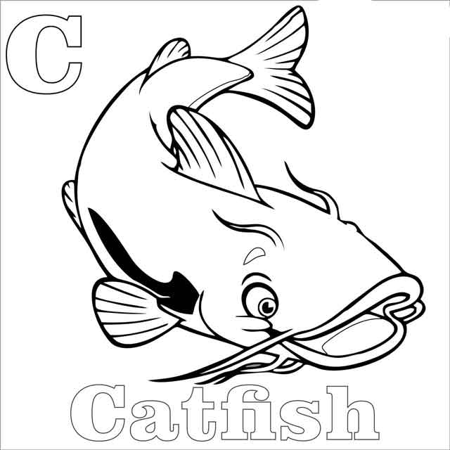 Wide Mouth Catfish Coloring Pages : Best Place to Color | Coloring ... | 640x640