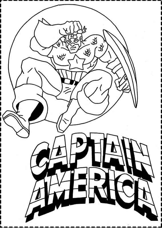 10 Best Free Printable Captain America Coloring Pages For Kids