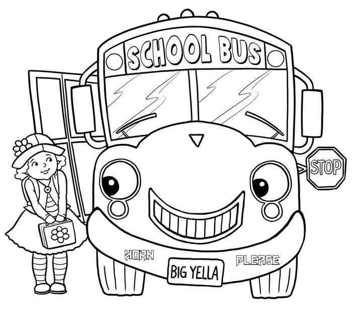 12 Best Free Printable Bus Coloring Pages For Kids