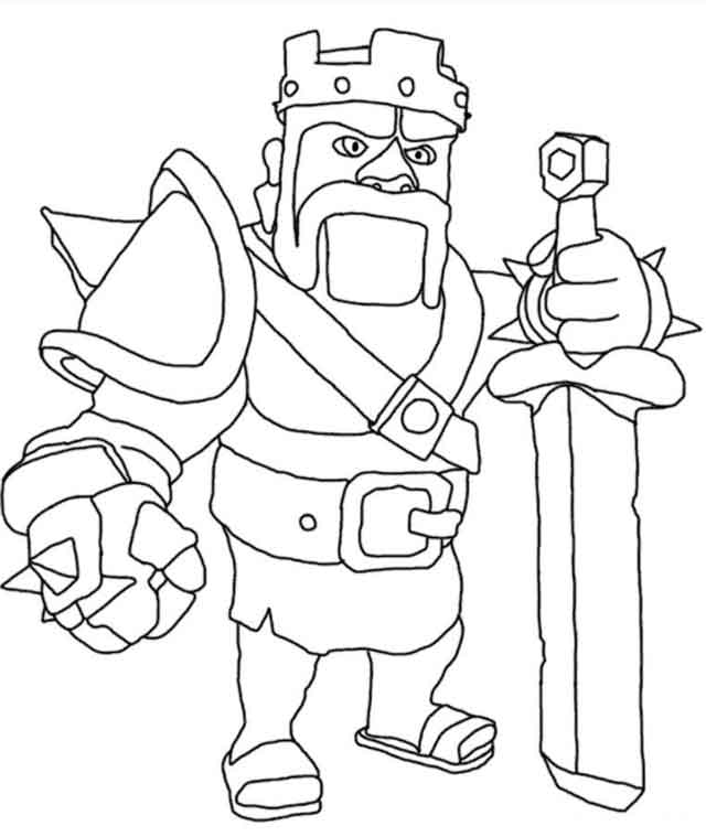 11 Best Free Printable Clash Of Clans Coloring Pages For Kids