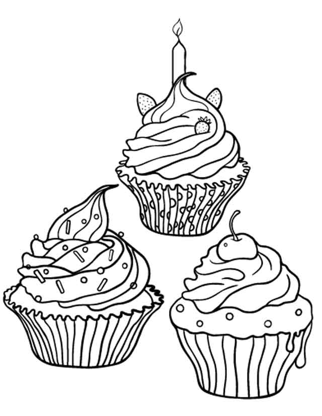 14 Best Free Printable Cupcake Coloring Pages For Kids