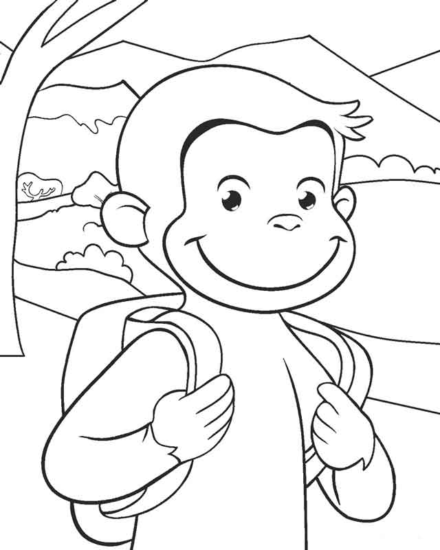14 Best Free Printable Curious George Coloring Pages For Kids