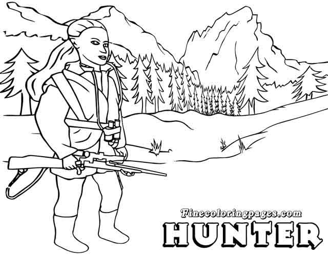 14 Free Printable Hunting Coloring Pages For Kids